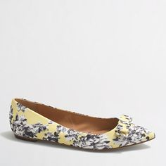 J.Crew Factory - Factory printed Amelia flats with bow