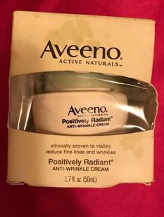 Aveeno Positively Radiant Anti Wrinkle Cream Anti Aging HTF New Full Size Cystic Acne Treatment, Skin Treatments, Anti Aging Cream, Anti Aging Skin Care, Face Cream For Wrinkles, Prevent Wrinkles, How To Treat Acne, Anti Wrinkle