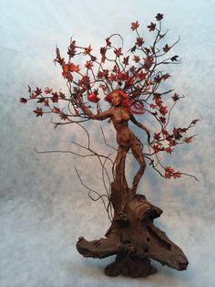0oak fairy art doll sculpture dryad tree by footstepsinthewind