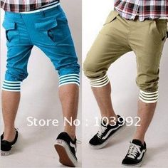 free shipping ! hot sales Casual capri lengths sweets colors men pants ,4 colors-in Pants from Apparel  Accessories on Aliexpress.com