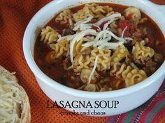 Lasagna Soup - Crumbs and Chaos
