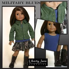 Military Blues Outfit | American Girl Doll Clothes, Patterns, and Shoes