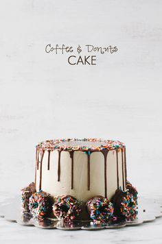 Coffee and Donuts Cake