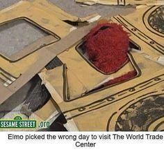Elmo, Sesame Street, 9/11 World Trade Center