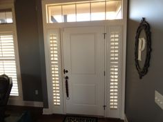 Shutters can even go over sidelights perfect for blocking light out and still letting some in