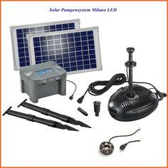 Solarpumpensystem  Milano LED Solarpumpe Solar Teichpumpe 101724