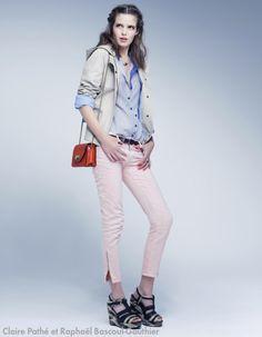 Comment porter le jean pastel ?