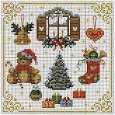 Victoria - Handmade Creations : Κεντήματα με μοτίβα για τα Χριστούγεννα και την Πρωτοχρονιά