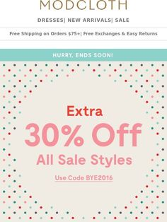 bbc80b910d6f0f Modcloth  Last Day  Extra off sale styles. Get hype!