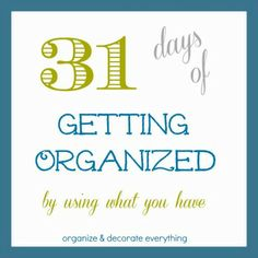 October Is The 31 Days of….Project