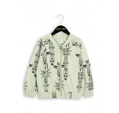 Mini Rodini Totem Baseball jacket Green