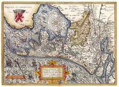 Kaart van Holland in 1570, Ortelius