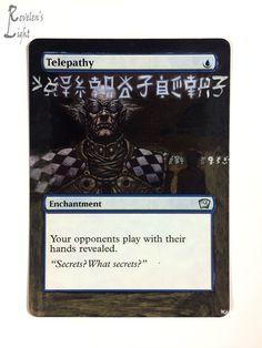 Telepathy - Full Art - MTG Alter - Revelen's Light Altered Art Magic Card