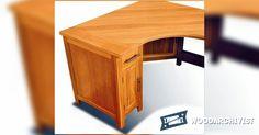 Corner Computer Desk Plans - Furniture Plans and Projects   WoodArchivist.com