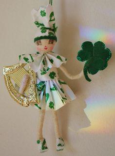 St Patricks Day Spun Cotton Vintage Craft Celtic by jejemae, $22.00