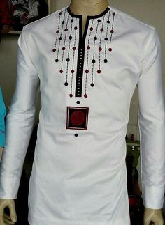 African men's wear/embroidery African shirt/Jolomie design for men/African high…