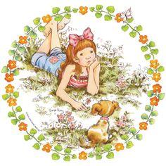Sara Kay, Kawaii, Holly Hobbie, Spring Art, Beautiful Day, Tinkerbell, Decoupage, Creations, Paper Crafts