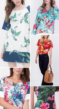 Vestido e Blusa Floral