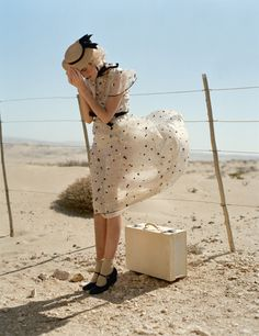 Agyness Deyn in Valentino by Tim Walker for Vogue May 2011