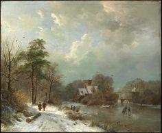 Barend Cornelis Koekkoek - Winter Landscape (1833)
