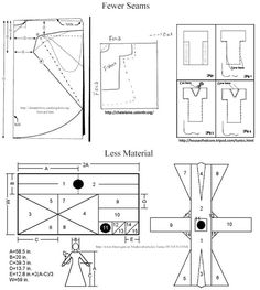"""The tunic may be the quintessential medieval garment. This garment, or something similar, was worn for over a thousand years in Europe.  The """"less material"""" option is a more historically accurate construction method, but the """"fewer seams"""" patterns are easier to construct.  Images are not mine and were found on the websites noted."""