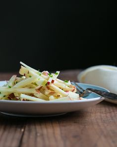Apple, Cheese, and Chive Salad - This one features the best Spanish cheese ever, Manchego.  I've also seen this salad with a dash of cider vinegar and shallots.  Personally, I'd just use Penzey's shallot salt in place of regular salt and call it a day.  I'm obsessed with that stuff!