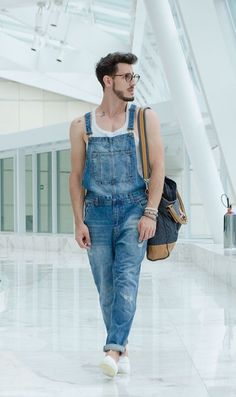 Guys in overalls. : Photo