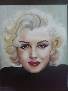 """Marylin""oil on canvas 25x30 painted by Ariela Salcini"