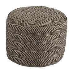 Signature Design by Ashley Chevron Natural Pouf | Overstock.com Shopping - The Best Deals on Ottomans