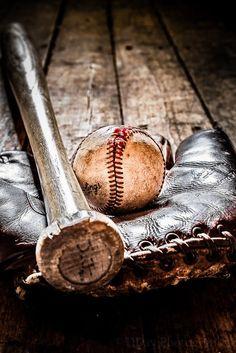 Baseball bat, glove and ball #photographytalk #baseball