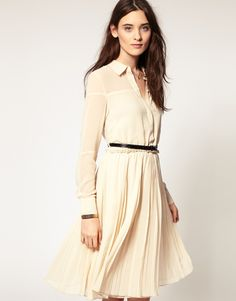 Vero Moda Shirt Dress // need this in a long maxi and it would be hijabi approved! @Deanna Khalil