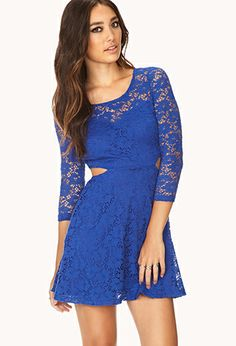 Sweet Lace Cutout Dress | FOREVER21 - 2000076488