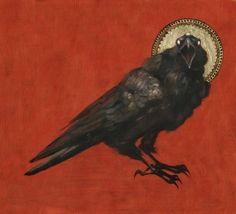 Three Eyed Raven Art Print by Audrey Benjaminsen Olgierd Von Everec, Hawke Dragon Age, Les Fables, Raven Art, Crows Ravens, Arte Horror, Wow Art, Dark Fantasy, Dark Art