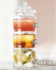 Stacked Optic-Glass Beverage Server $110