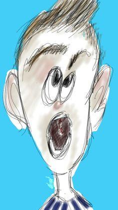 Sketch on my phone ... character screaming cartoon ... hop you like it 😊