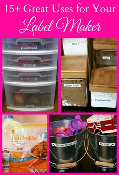 15+ Great Ways to Organize Your Life with a Label Maker #MC #sponsored #Ptouch25