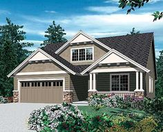 craftsman style. 4 bed 2.5 bath. Kitchen is in the front of the house... interesting idea