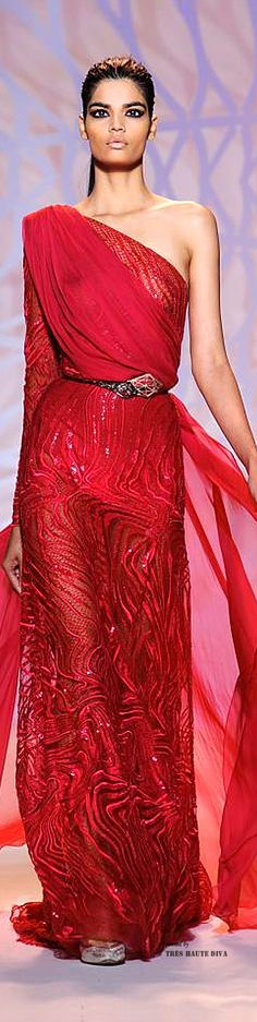 The Millionairess of Pennsylvania: Zuhair Murad - red couture - Fall/Winter 2014-15