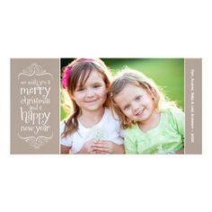 Merry Christmas Photo Card | Taupe Brown