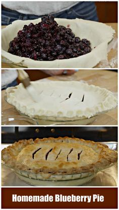 Who doesn't love home made #Blueberry Pie? #BlueberryPie