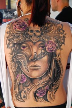 black and purple back piece...
