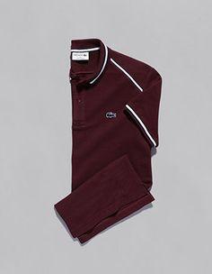 Há sempre um novo polo Lacoste. Mais técnico, criativo e inovador Lacoste, Joggers, Sweatpants, Polo T Shirts, Hugo Boss, Nike Jacket, Men's Fashion, Nordstrom, Menswear