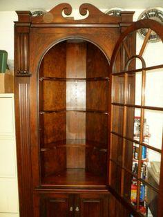 Antique Corner Cabinet - early 1900's vintage furniture $1500.00
