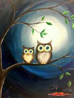 Easy Canvas Painting, Diy Canvas Art, Diy Painting, Spray Paint Artwork, Owl Artwork, Owl Wallpaper, Whimsical Art, Art Drawings, Owl Paintings