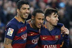 Barcelona y el fútbol como solución: otra exhibición con Messi, Suárez y Neymar Foto: EFE