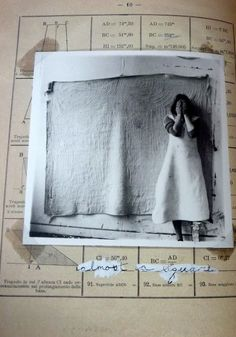Francesca Woodman, from Some Disordered Interior Geometries, 1981. A reproduced photo-book of silver gelatin prints in an Italian geometry textbook with handwritten notes. I am so very inspired by this! I have an empty pilot's log just waiting for something like this...