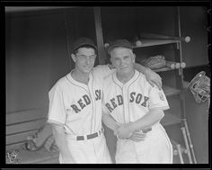 1942 - Dom DiMaggio and coach Larry Woodall.