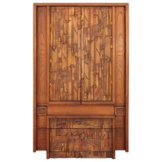 Brutalist Armoire in the Style of Paul Evans | From a unique collection of antique and modern wardrobes and armoires at https://www.1stdibs.com/furniture/storage-case-pieces/wardrobes-armoires/
