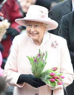 Queen Elizabeth was smiling as she greeted the crowd on her way to Sunday Service in Sandringham on February 1st.
