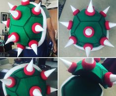 """How to Build a Super Mario: """"Bowser"""" Backpack: Have you ever wanted to rock an awesome nerdy backpack at a con Mario Costume Diy, Super Mario Bros Costumes, Mario Brothers Costumes, Mario Halloween Costumes, Mario Cosplay, Boo Costume, Turtle Costumes, Ghost Costumes, Cosplay Diy"""